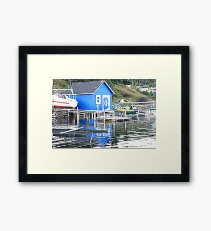 Blue in The Water Framed Print