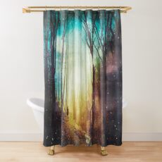 the magic of quiet places Shower Curtain
