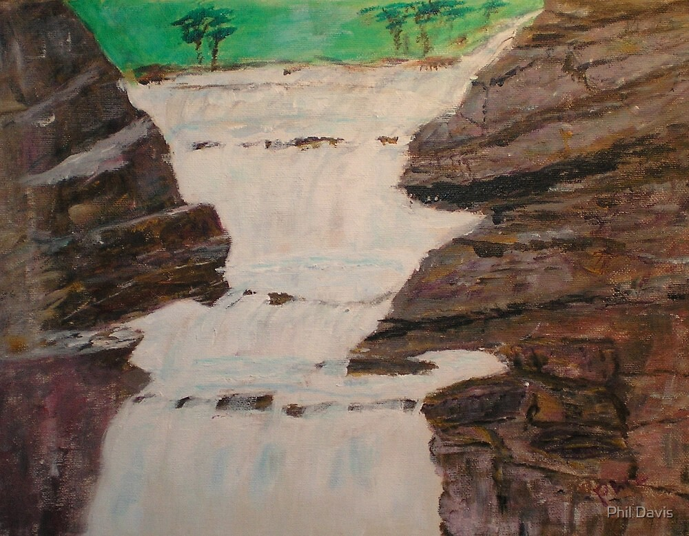 Rocks and Waterfalls by Phil Davis