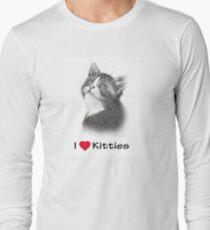 I Love Kitties: Kitten in Pencil T-Shirt