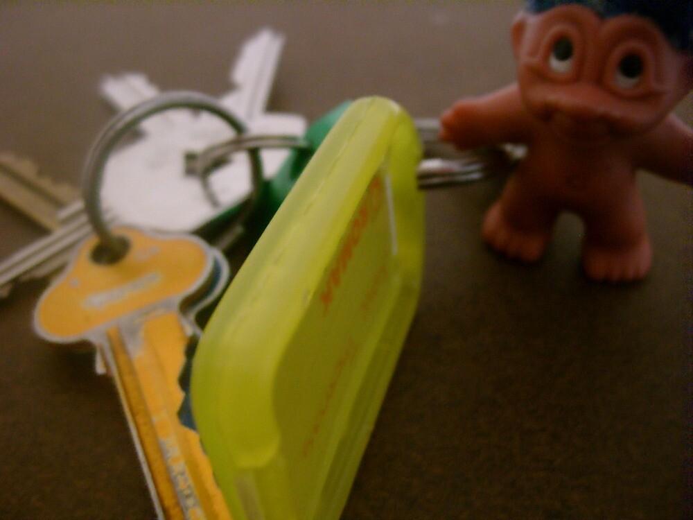 the good luck troll found my keys by Jamie Thomas