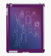 White Gel Pen Sketches iPad Case/Skin