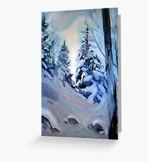 Snow Vision Greeting Card