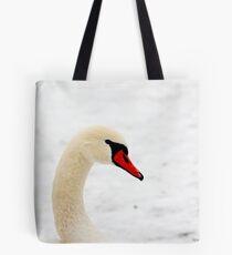 Inquisitive swan 3958 Tote Bag