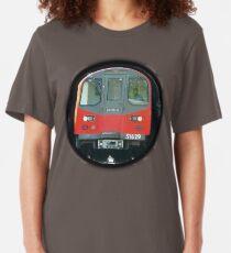 TUBE, TRAIN, Tunnel, London, Underground, UK, GB. Slim Fit T-Shirt