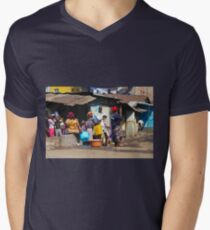 People collecting water in Nairobi - KENYA Mens V-Neck T-Shirt