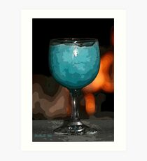 Frozen Blue Daquari PE Art Print