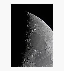 Northern Lunar Pole, Seas of Cold, Serenity, and Tranquility - Landolt Telescope Photographic Print