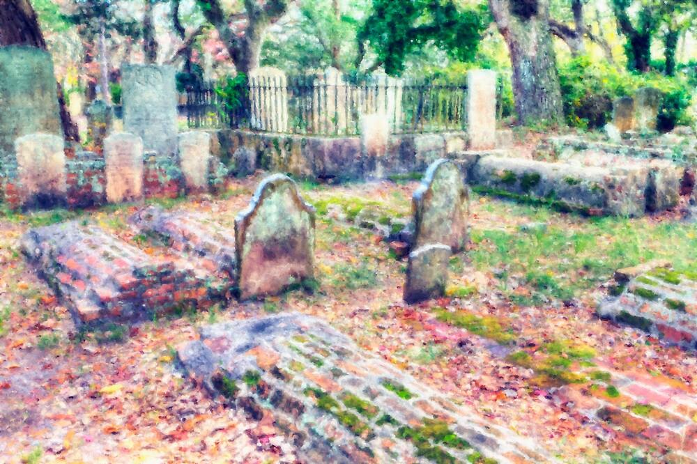 Country Churchyard by Harry H Hicklin
