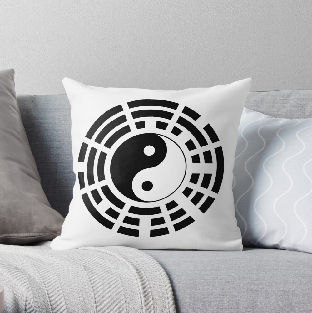 Yin Yang Trigram Third Culture Series Throw Pillow