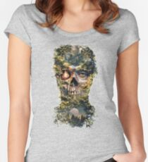 The Gatekeeper Dark Surrealism Art Women's Fitted Scoop T-Shirt
