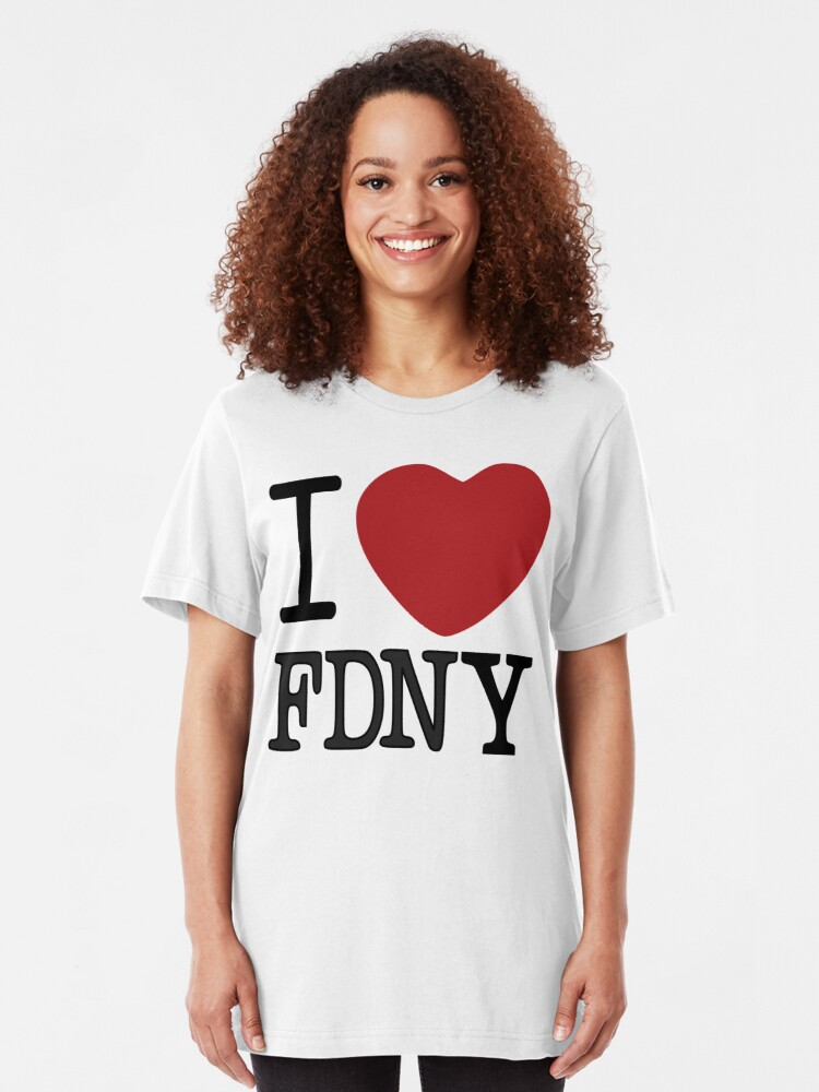 Alternate view of I Lubba FDNY Third Culture Series Slim Fit T-Shirt