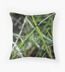 wet & Weedy Throw Pillow