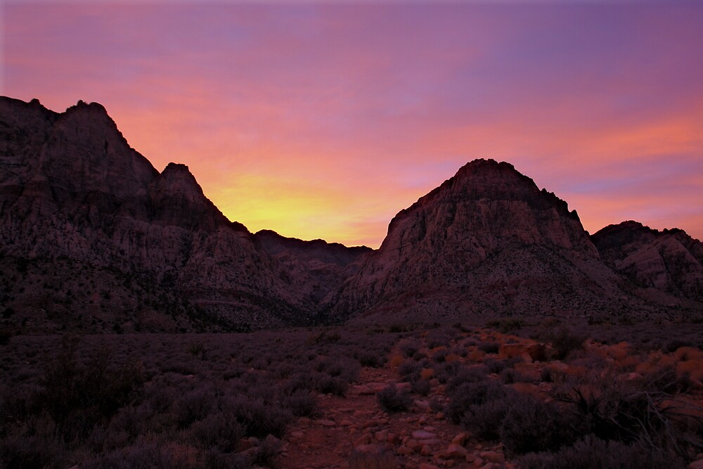 Red Rock Canyon Sunset by David Frederick