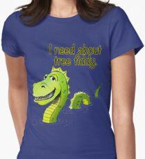Loch Ness Monster Tree Fiddy Women's Fitted T-Shirt