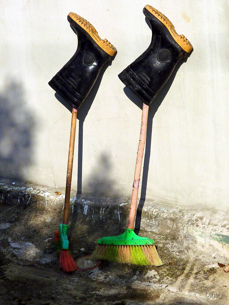 Boots on Brooms by Digby