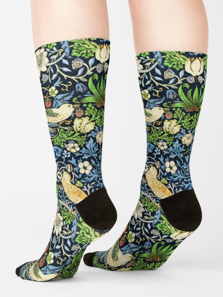 Alternate view of Art Nouveau Bird and Flower Tapestry Socks