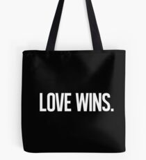 LOVE WINS. Tote Bag
