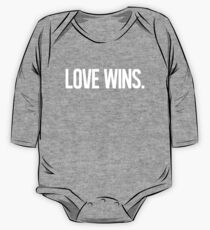 LOVE WINS. Long Sleeve Baby One-Piece