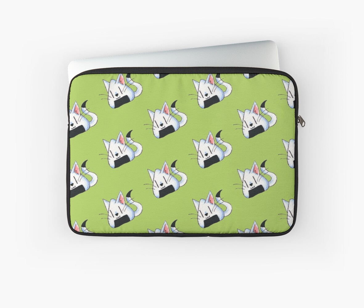 Home Decor Peabody Quot Kittygiri Quot Laptop Sleeves By Kokeefeart Redbubble