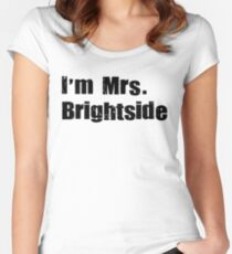 mrs. brightside 2 Women's Fitted Scoop T-Shirt
