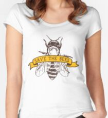 Save The Bees! Fitted Scoop T-Shirt
