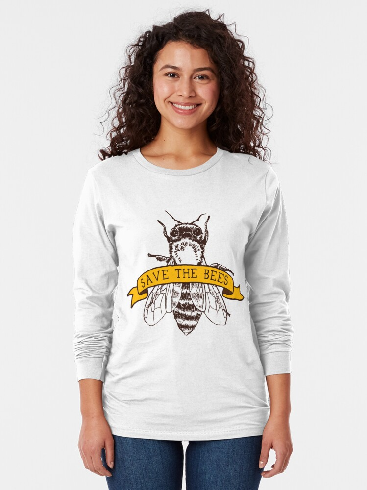 Alternate view of Save The Bees! Long Sleeve T-Shirt