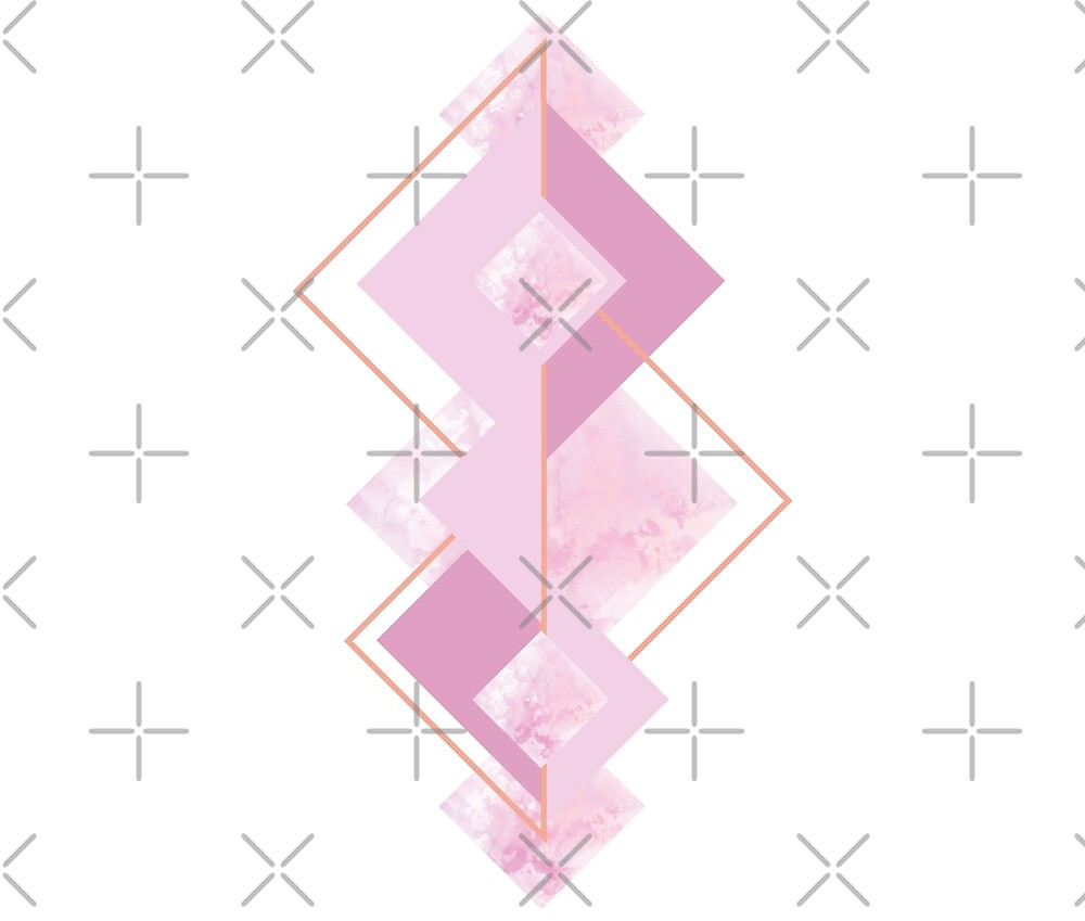 Pink geometry by ColorsHappiness