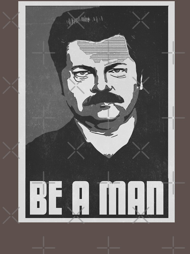 Be A Man- Black/White  by kurticide