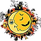 Halloween Moon Storybook Graphic by dcohea