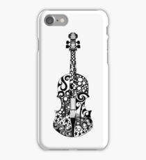 Black and White Violin Zentangle iPhone Case/Skin