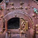 Steam boiler, Taranna, Tasmania by Philip Hallam