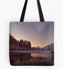Frozen Loch Ard, Scotland. Tote Bag