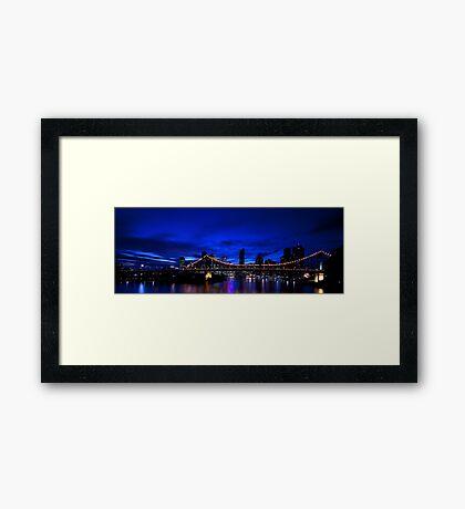 Brisbane after dark.. Framed Print