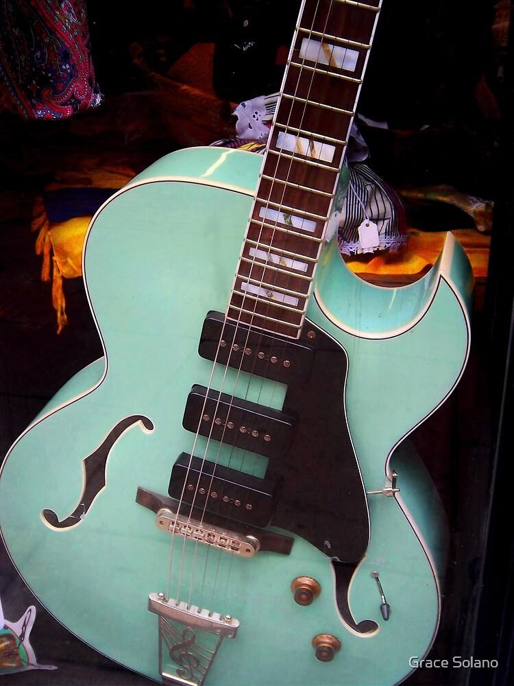 Beautiful Guitar I by Graciela Maria Solano