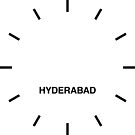 Hyderabad Time Zone Newsroom Wanduhr von bluehugo
