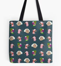 Courage the cowardly dog - pixel pattern Tote Bag