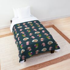 Courage the cowardly dog - pixel pattern Comforter