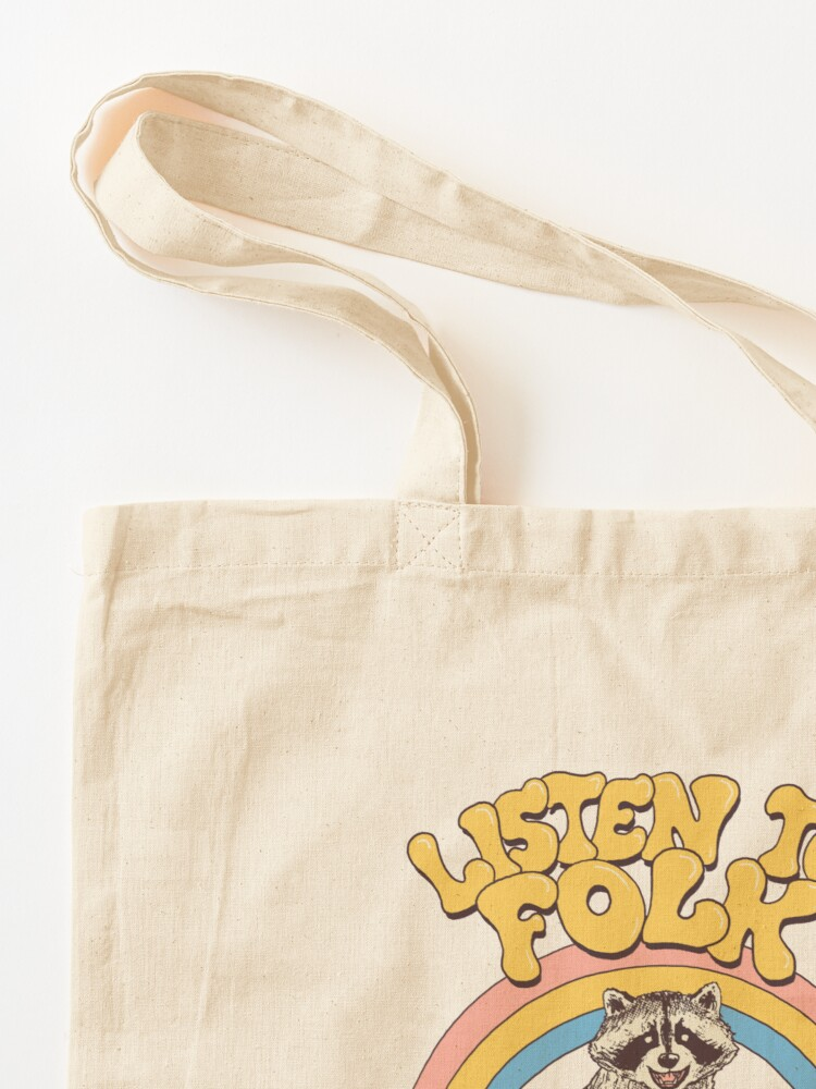 Alternate view of Listen To Folk Tote Bag