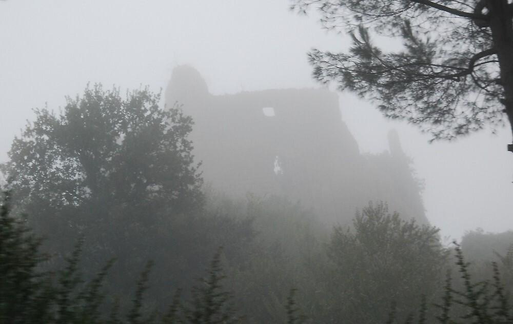 Castle in the Mist-Lazio, Italy by Deborah Downes