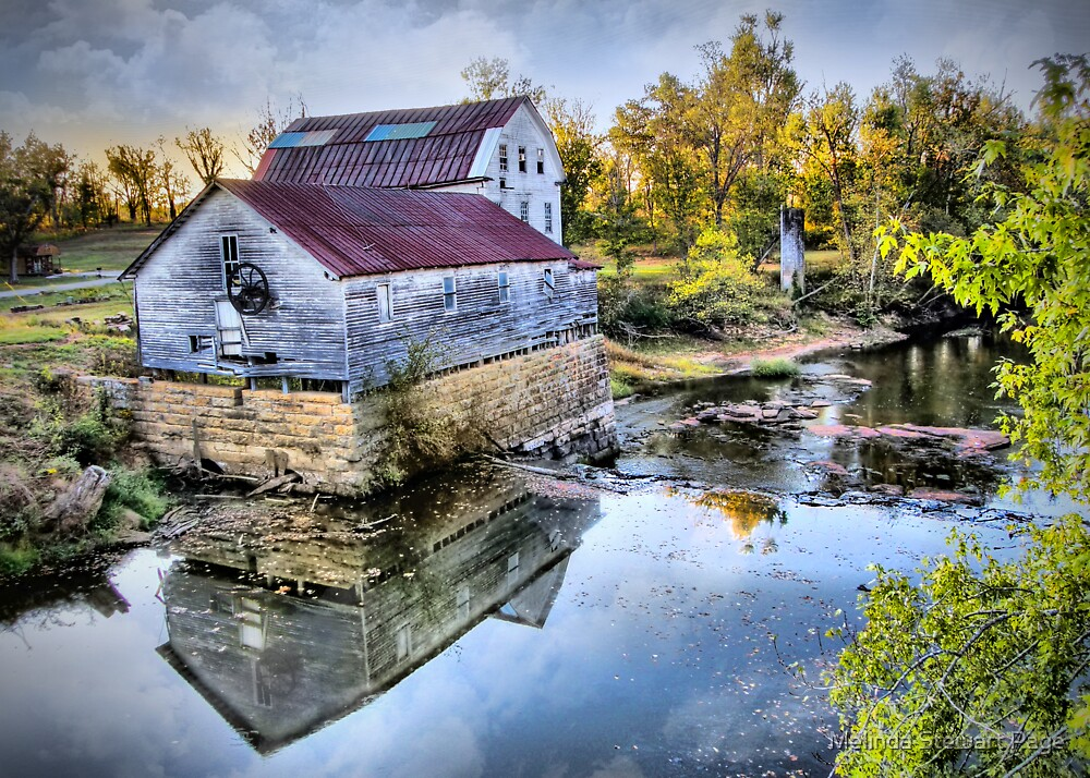 """""""View Of The Old Green Mill From The Bridge"""" by Melinda Stewart Page"""