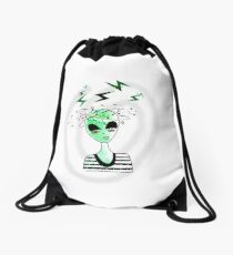 Alien from Area 51  Drawstring Bag