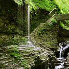 Rainbow Falls and the Stone Bridge by Gene Walls