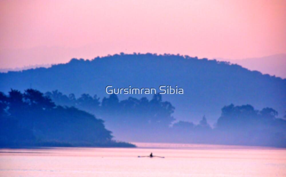 Lone Rower! by Gursimran Sibia
