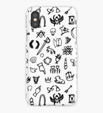 Cemetery Symbology (White) iPhone Case/Skin
