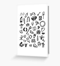 Cemetery Symbology (White) Greeting Card
