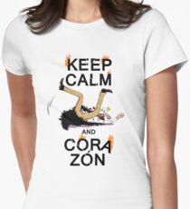 Camiseta entallada para mujer MANTENER LA CALMA Y EL CORAZÓN