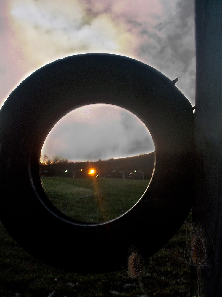 Evening Light Through a Tire, Composite by Andrew Baker