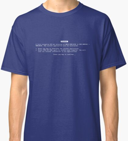 Blue Screen of Death Classic T-Shirt