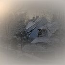 Cottage in the mist - Belgium by Gilberte